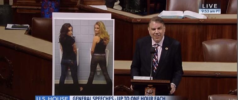 Alan Grayson on house floor discussing transgender bathroom debate (C-Span Screen Capture)