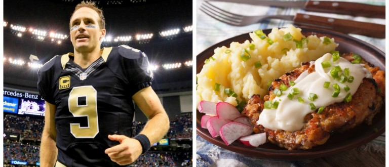Drew Brees, Country Fried Steak (Reuters Pictures/Shutterstock)