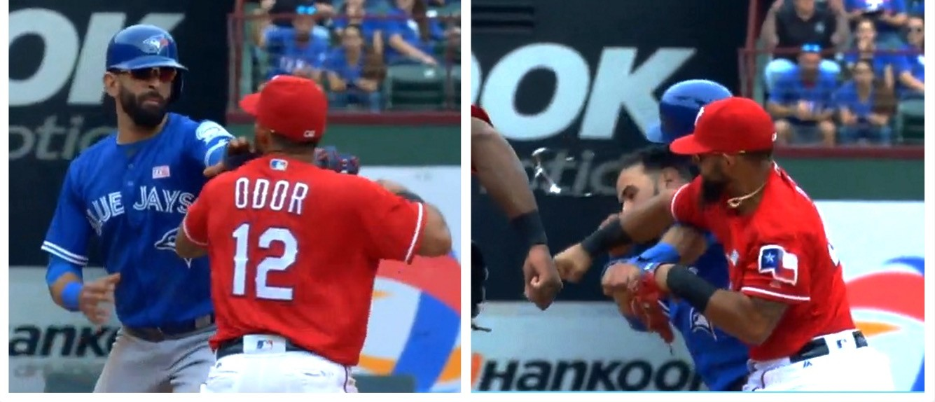 VIDEO: Jose Bautista Punched In Face By Rougned Odor | The Daily Caller