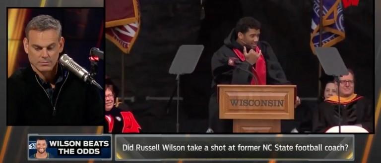 Colin Cowherd/Russell Wilson (Credit: Screenshot/Youtube Colin Cowherd)