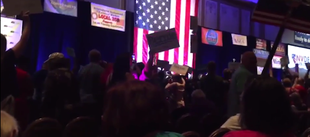 2016 NV Dem. State Party Convention (Jennie Helena/Twitter - Video Screen Capture)