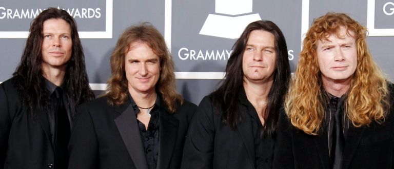 Megadeth arrives at the 53rd annual Grammy Awards in Los Angeles (Danny Moloshok/Reuters)