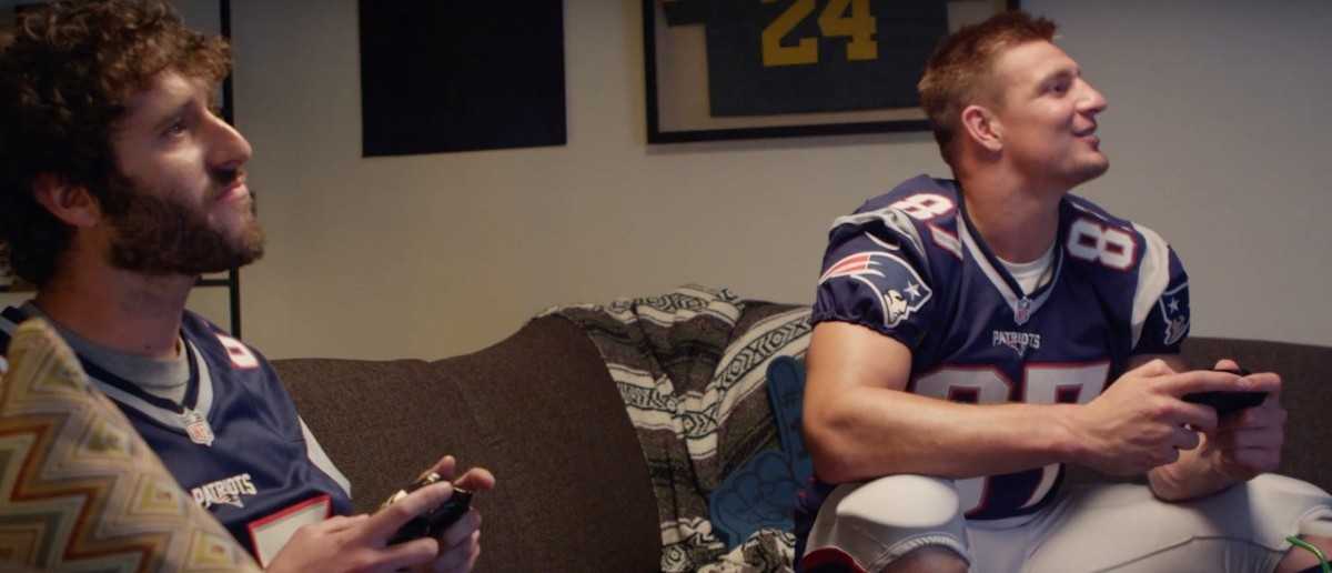 Lil Dicky, Gronk (Credit: Screenshot/Youtube Lil Dicky)