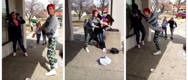Gay Dude, Trashy Lady Strive For Gender Equality (Beat The S**t Out Of Each Other) (YouTube)