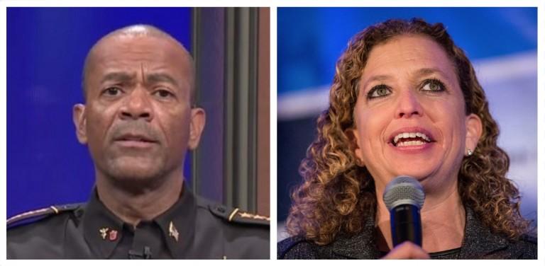 David Clarke compares Debbie Wasserman Schultz to Medusa (Fox News YouTube/Getty Images)