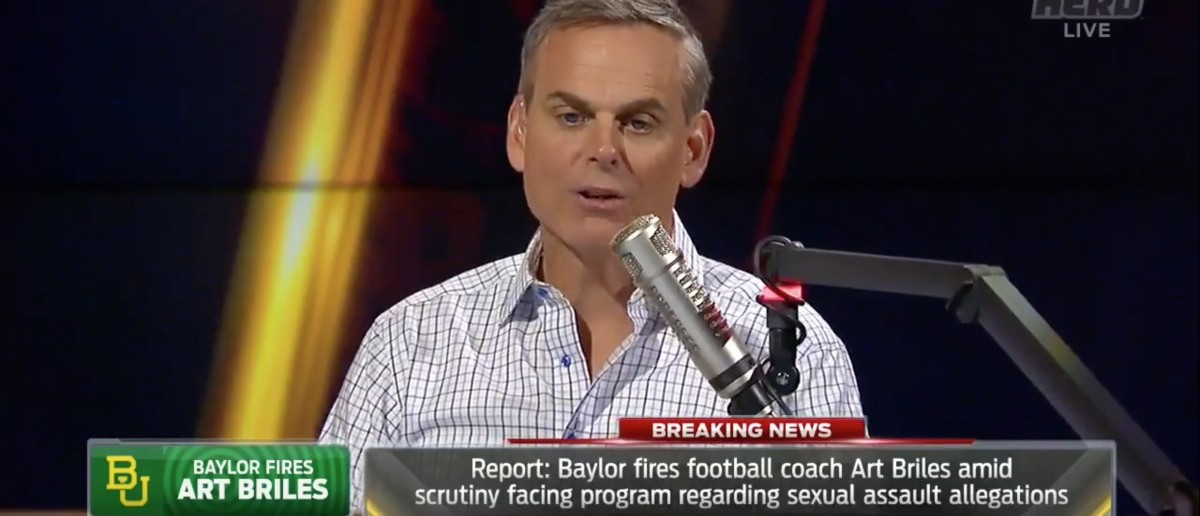 Colin Cowherd (Credit: Screenshot/Twitter Video The Herd)