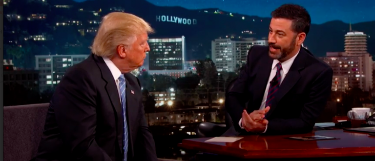 Donald Trump and Jimmy Kimmel (photo:YouTube Screen Shot) 2016-05-26 at 6.48.10 AM