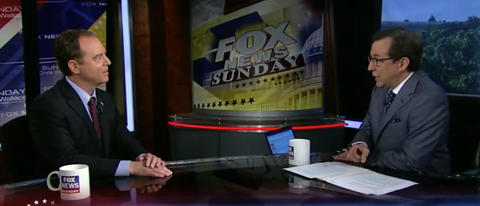 """Rep. Adam Schiff on """"Fox News Sunday"""" (Screen shot Fox)"""
