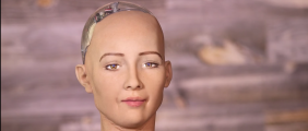 "Robot ""Sophia"" (CNBC Screen Capture)"