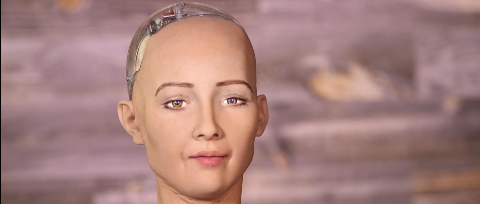 """Robot """"Sophia"""" (CNBC Screen Capture)"""