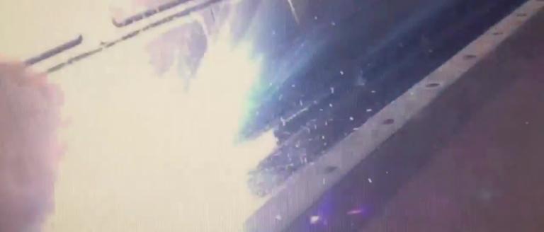 Arcing insulator cause smoke incident. (Credit: NBC4/Twitter/Screenshot)
