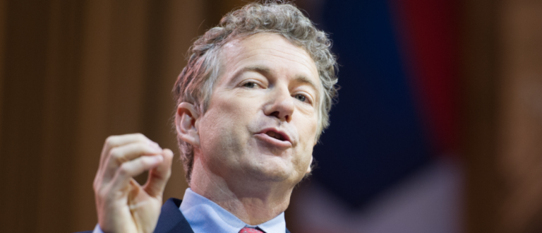 Rand Paul speaks at the Conservative Political Action Conference (CPAC). (Christopher Halloran / Shutterstock.com)