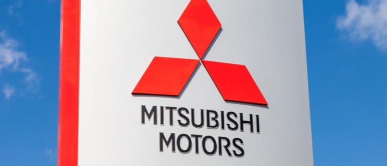 Official dealership sign of Mitsubishi. Mitsubishi Motors Corporation is a multinational automotive manufacturer headquartered in Minato, Tokyo, Japan (FotograFFF / Shutterstock.com)