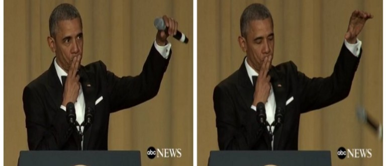 'Obama Out' -- Barry Drops The Mic At WHCD (ABC)