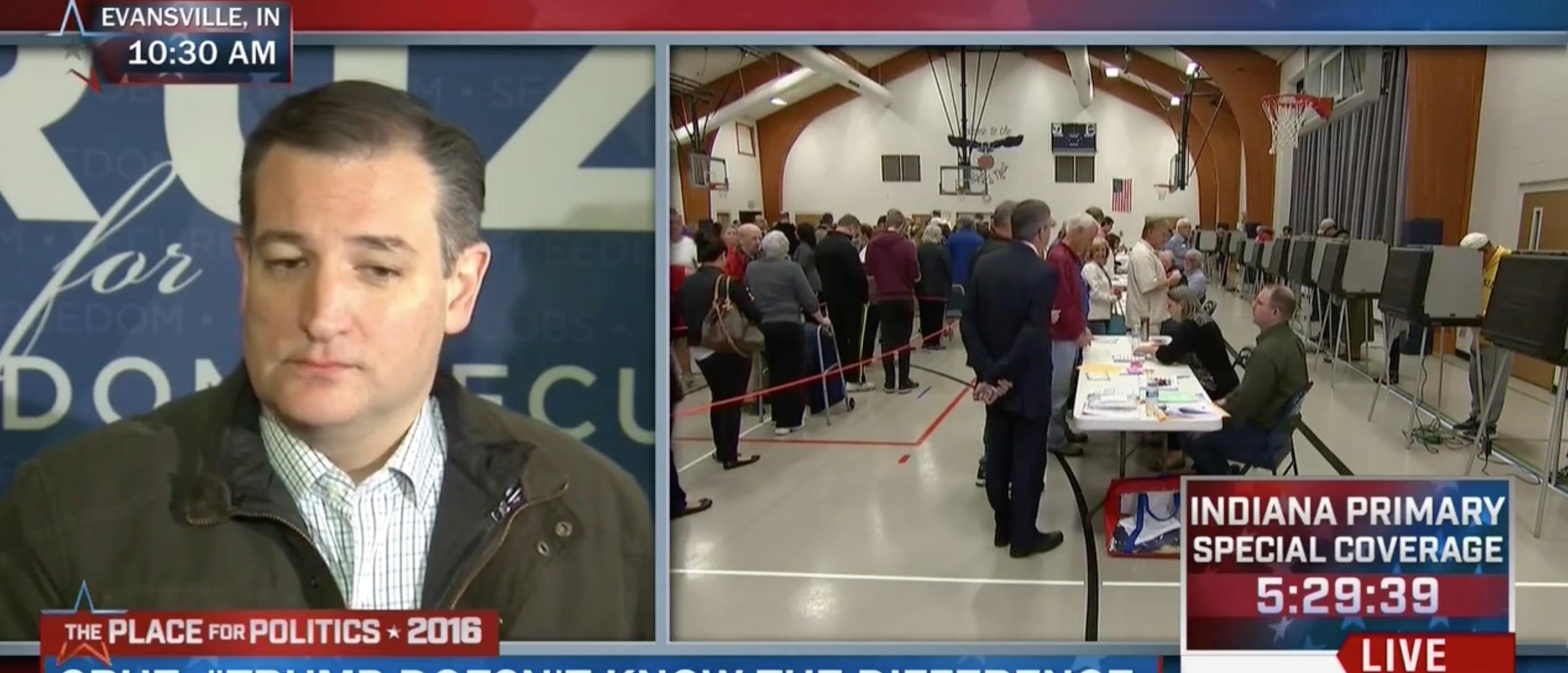 Sen. Ted Cruz, Screen grab MSNBC, 5-3-2016