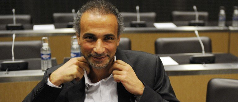 Swiss philosopher Tariq Ramadan attends a French parliamentary hearing at the National Assembly in Paris