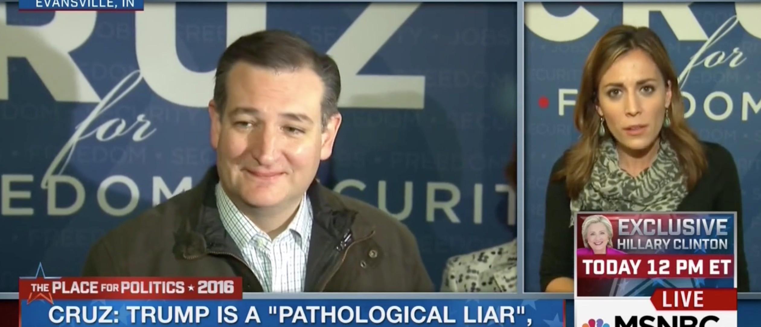 Ted Cruz, Hallie Jackson, Screen Shot MSNBC, 5-3-2016