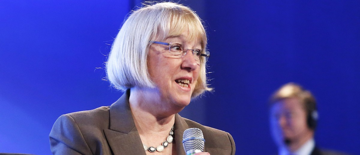 U.S. Senator Patty Murray (D-WA) delivers remarks during the 2014 Peterson Foundation Fiscal Summit in Washington May 14, 2014. REUTERS/Jonathan Ernst
