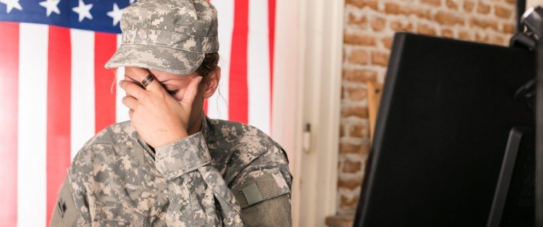 Female American soldier (Shutterstock)