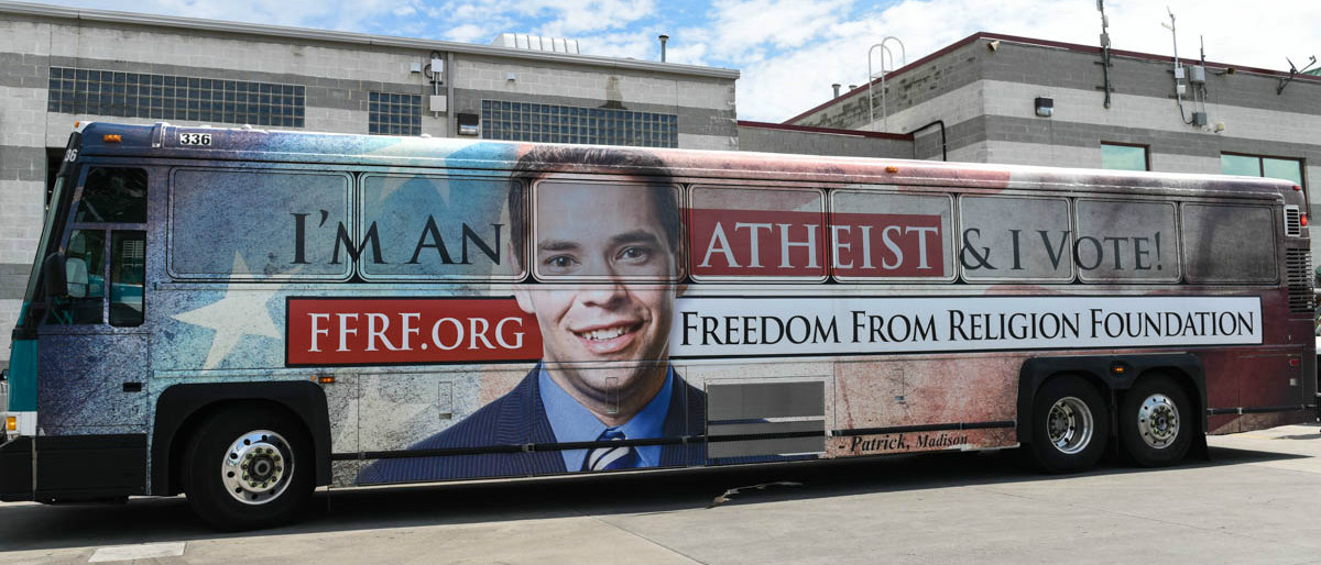 Sad, Lonely Atheists Cover Buses And Kiosks With