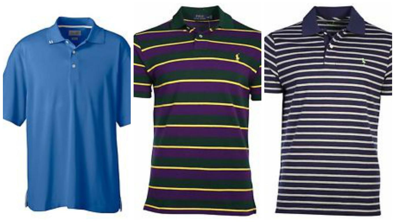 Golf polos and shorts are on sale (Photos via eBay)