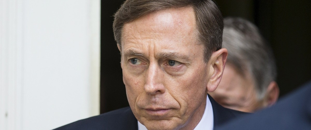 Former CIA director David Petraeus leaves the Federal Courthouse in Charlotte