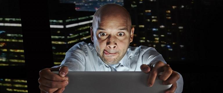 Man watching explicit material (Shutterstock)