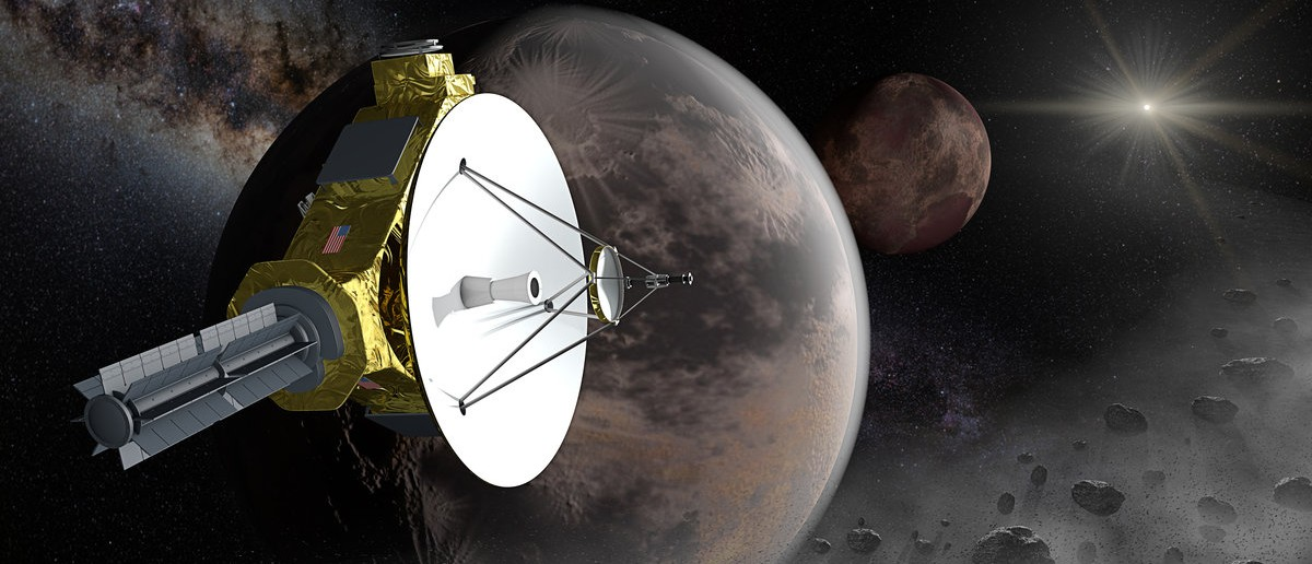 After passing by Pluto, New Horizons will continue farther into the Kuiper belt for encounter with one more additional Kuiper belt objects of the order of 50-100 km (31-62 mi) in diameter. (Shutterstock.com/edobric)