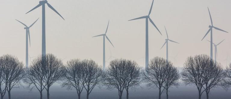Flevoland, the Netherlands - March 26, 2016: a wind turbine wind park. Andrew Balcombe / Shutterstock.com