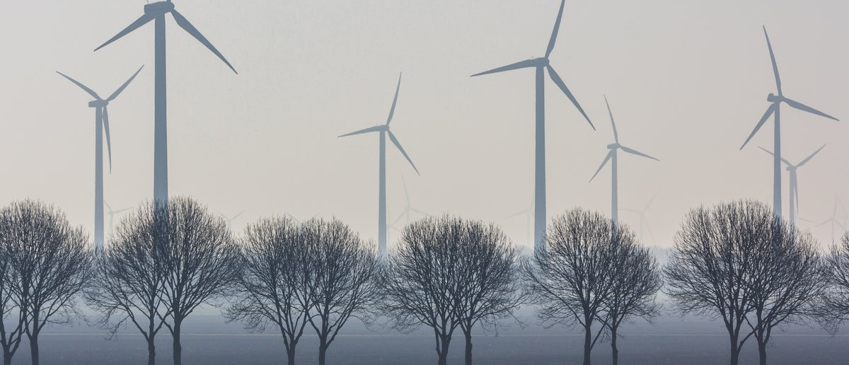 Flevoland, the Netherlands - March 26, 2016: a wind turbine wind park. Andrew Balcombe / Shutterstock.com