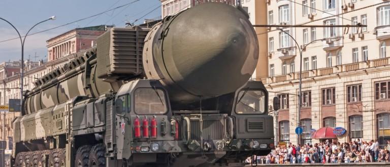 Russian SS-27 on display during a parade. Source: Alexander Kuguchin/Shutterstock