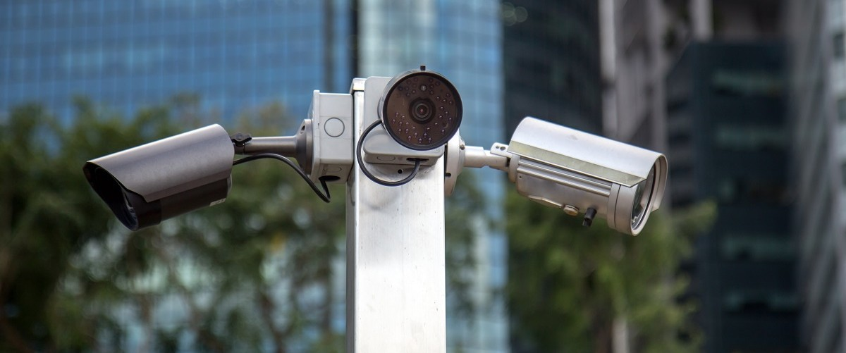 Surveillance cameras spying on citizens. (Shutterstock)