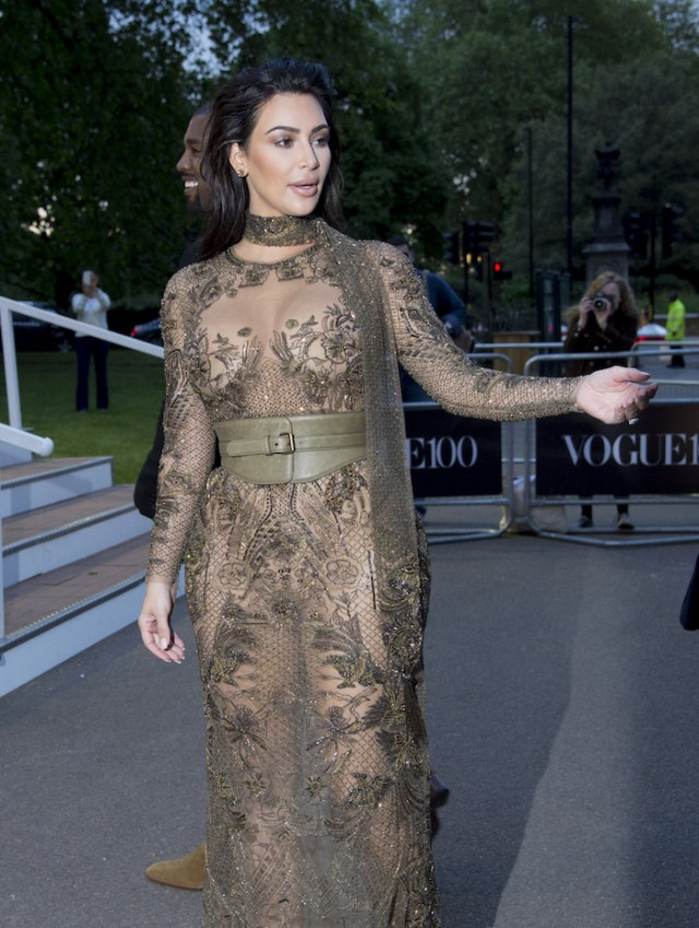 Kim Kardashian Just Showed Everything In A See-Through Dress | The ...