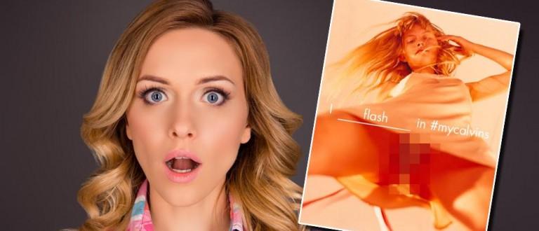 Calvin Klein new ad shows girl's skirt