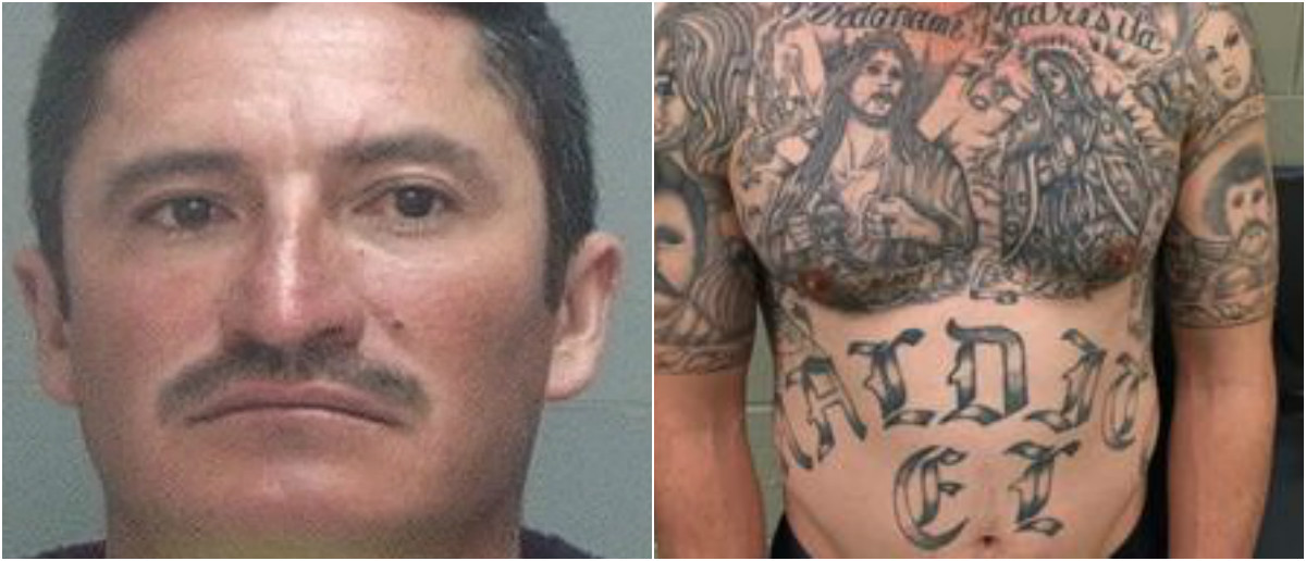 Sergio Amador-Olive. Salt Lake County (L), U.S. Immigration and Customs Enforcement (R)