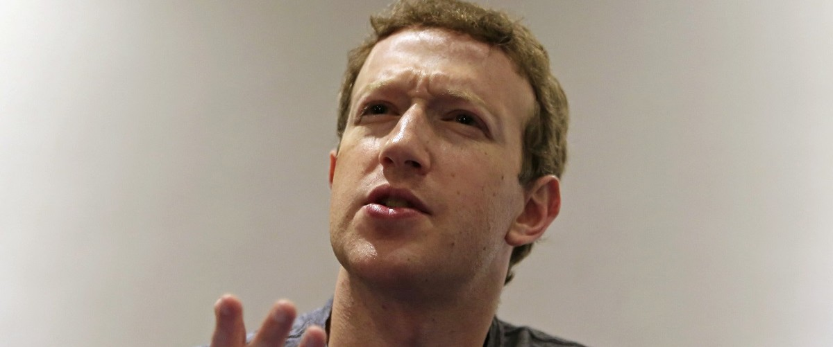 Facebook CEO Mark Zuckerberg speaks during a Reuters interview at the University of Bogota