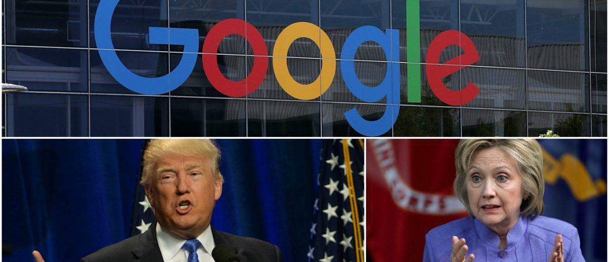 Google responds to Anti-Trump, Pro-Clinton allegations. (Getty Images/Justin Sullivan, Chip Somodevilla, Darren McCollester)