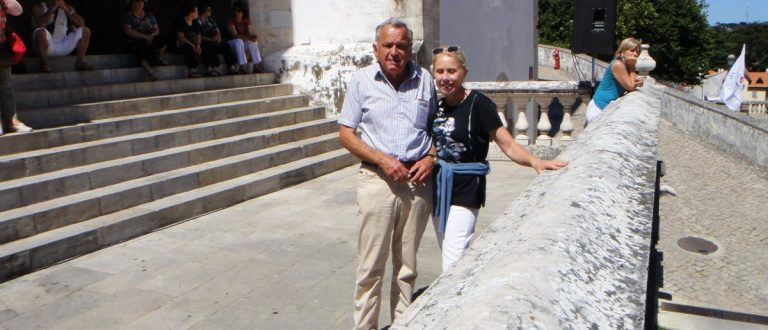 Hanjorg Wyss and Jacqueline Long in Lisbon in July 2010