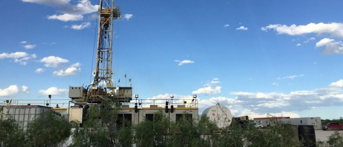The Elevation Resources drilling rig is shown at the Permian Basin drilling site in Andrews County, Texas, U.S. in this photo taken May 16, 2016. REUTERS/Ann Saphir