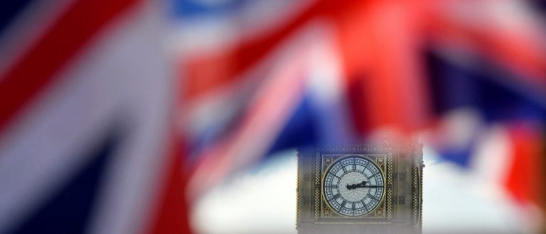 British Union flags fly in front of the Big Ben clocktower of The Houses of Parliament in central London, Britain February 24, 2016. REUTERS/Hannah McKay/File Photo