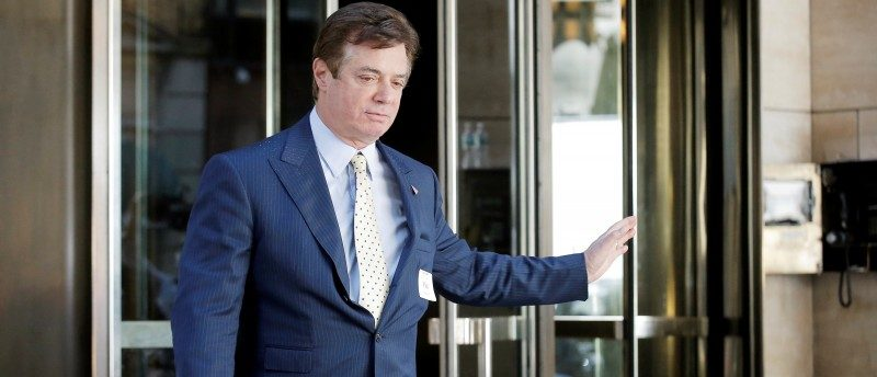 Paul Manafort, senior advisor to Republican U.S. presidential candidate Donald Trump, exits following a meeting of Donald Trump's national finance team at the Four Seasons Hotel in New York City, U.S., June 9, 2016. REUTERS/Brendan McDermid