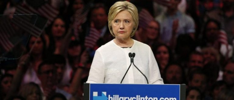 Democratic presidential candidate Hillary Clinton speaks during her California primary night rally held in the Brooklyn borough of New York, June 7, 2016.