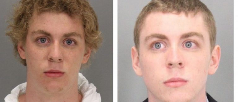 A combination booking photos shows former Stanford University student Brock Turner (L) on January 18, 2015 at the time of arrest and after Turner was sentenced to six months in county jail for the sexual assault of an unconscious woman, in Santa Clara County Sheriff's booking photo (R) released on June 7, 2016. Courtesy Santa Clara County Sheriff's Office/Handout via REUTERS - TM3EC6A0VKU01