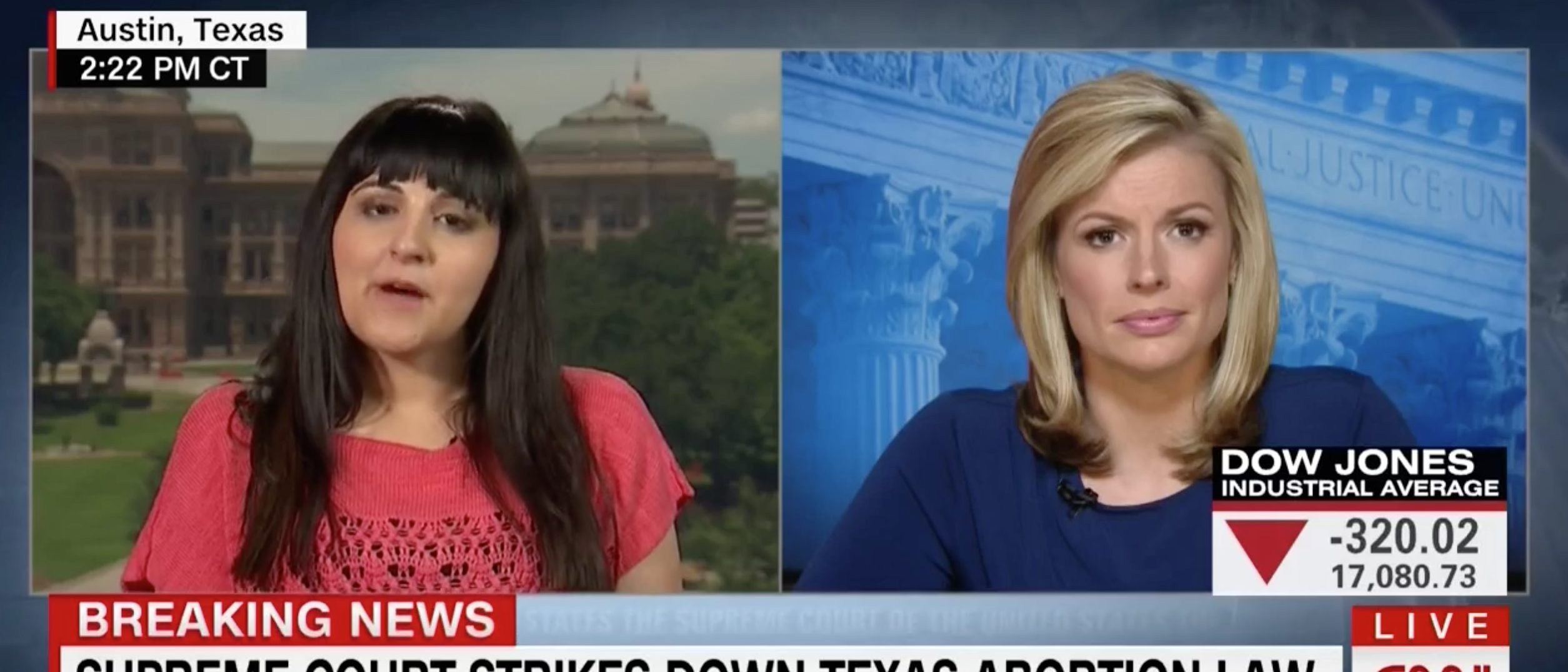 Candice Russell, Screen Grab CNN, 6-27-2016