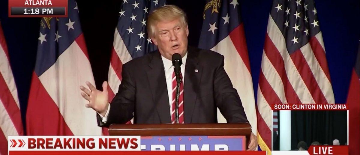 Donald Trump, Screen Grab MSNBC, 6-15-2016