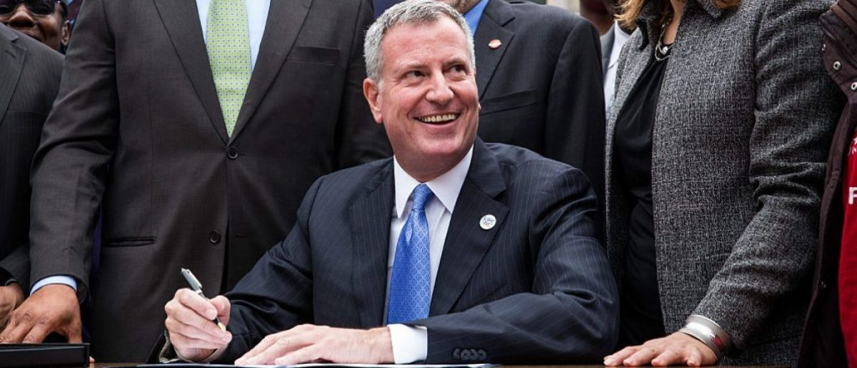 New York City Mayor Bill de Blasio (Photo by Andrew Burton/Getty Images)