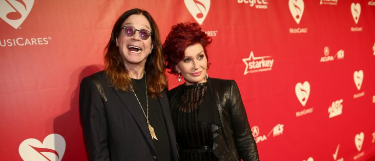 LOS ANGELES, CA - JANUARY 24: Singer Ozzy Osbourne and TV personality Sharon Osbourne attend 2014 MusiCares Person Of The Year Honoring Carole King at Los Angeles Convention Center on January 24, 2014 in Los Angeles, California. (Photo by Christopher Polk/Getty Images for NARAS)