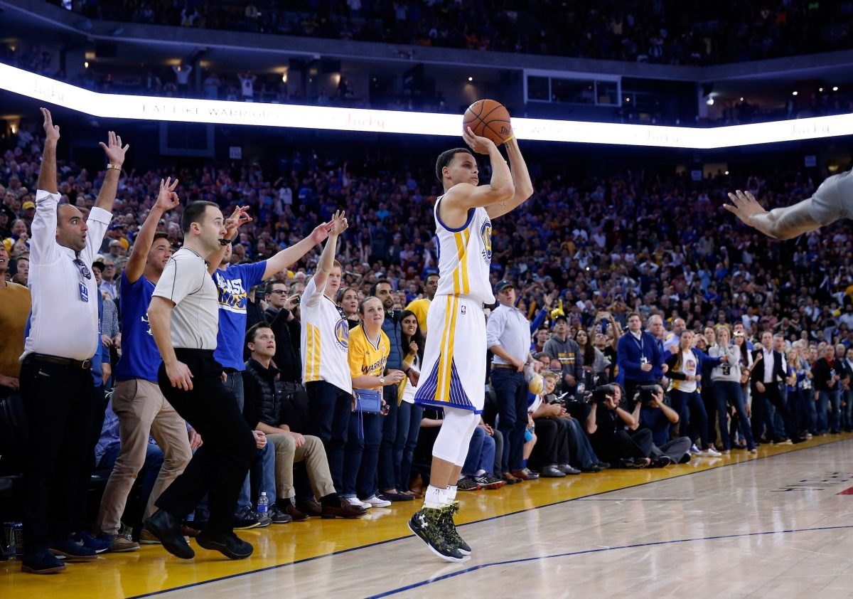 Steph Curry said a variety of reasons are keeping him out from the Olympics, including some injuries. (Photo: Ezra Shaw/Getty Images)