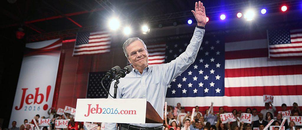 Jeb Bush announces his 2016 presidential bid (Getty Images)