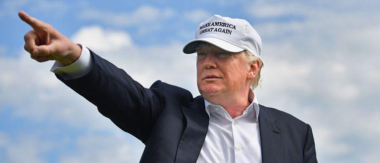 Donald Trump visits Trump International Golf Links in Aberdeen, Scotland. (Getty Images)